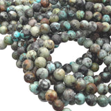 African Turquoise 6 mm Round Beads Gemstone G1130