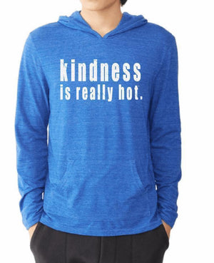 Unisex Kindness Is Really Hot Eco Hooded Pullover - Breathe in Detroit