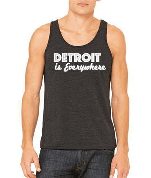 "Unisex ""Detroit Is Everywhere"" Triblend Tank - Breathe in Detroit"