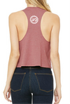 Women's Wild Heart Racer Crop Tank - Breathe in Detroit