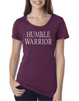 Women's Humble Warrior Amethyst Triblend Tee - Breathe in Detroit