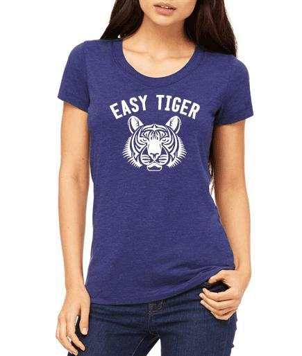 "Women's ""Easy Tiger"" Triblend Tee - Double-Hitter! - Breathe in Detroit"