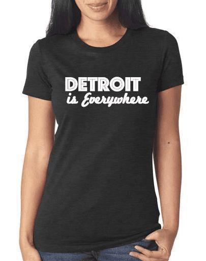 "Women's ""Detroit is Everywhere"" Triblend Tee - Breathe in Detroit"