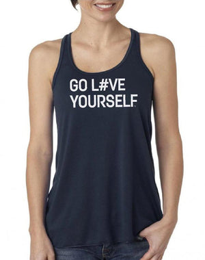 Women's Go Love Yourself Flow Tank - Breathe in Detroit