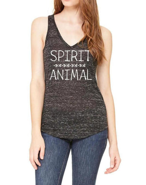 Women's Spirit Animal Marbled V-Neck Tank - Breathe in Detroit