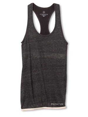 Women's Eco-Gauze Practice Love Tank with Built-in Bra - Breathe in Detroit
