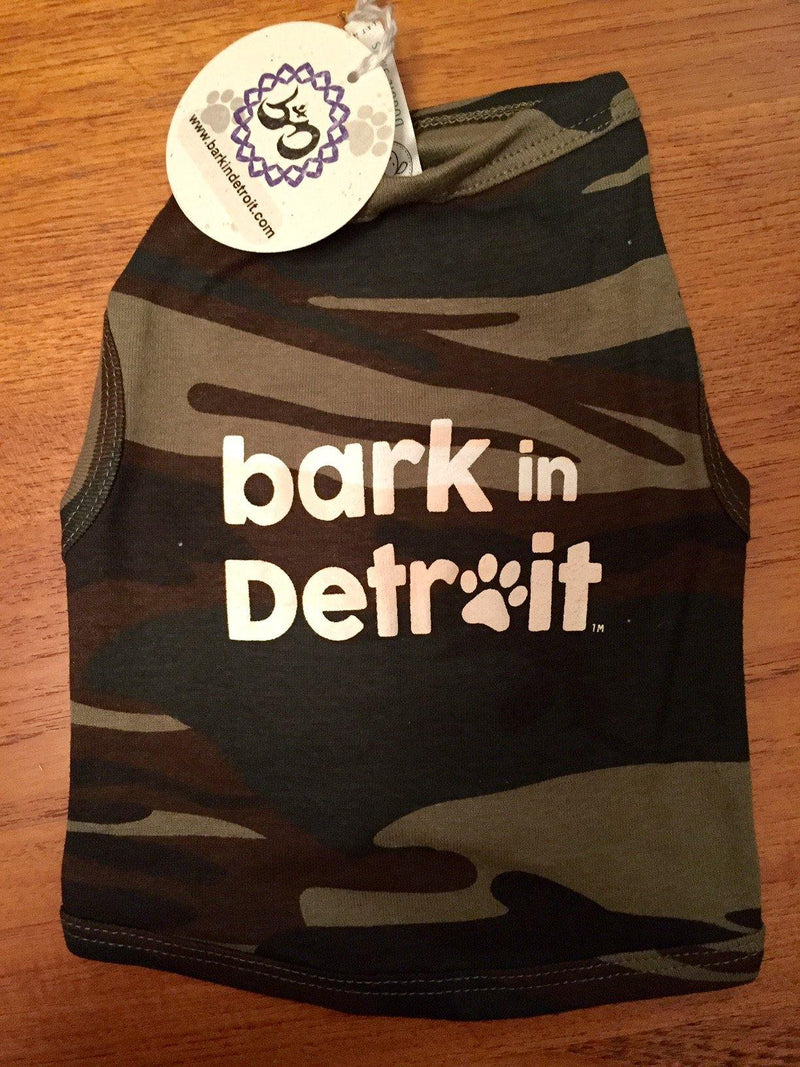 Bark in Detroit Doggie Tank - Camo - Breathe in Detroit