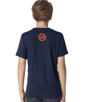 "Youth ""Easy Tiger"" Vintage Navy Triblend Tee - Breathe in Detroit"