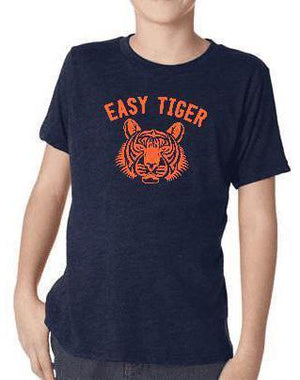 Youth Easy Tiger Vintage Navy Triblend Tee - Breathe in Detroit