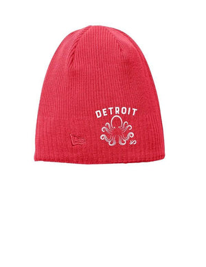 Fleece-Lined Detroit Octopus Beanie - Breathe in Detroit