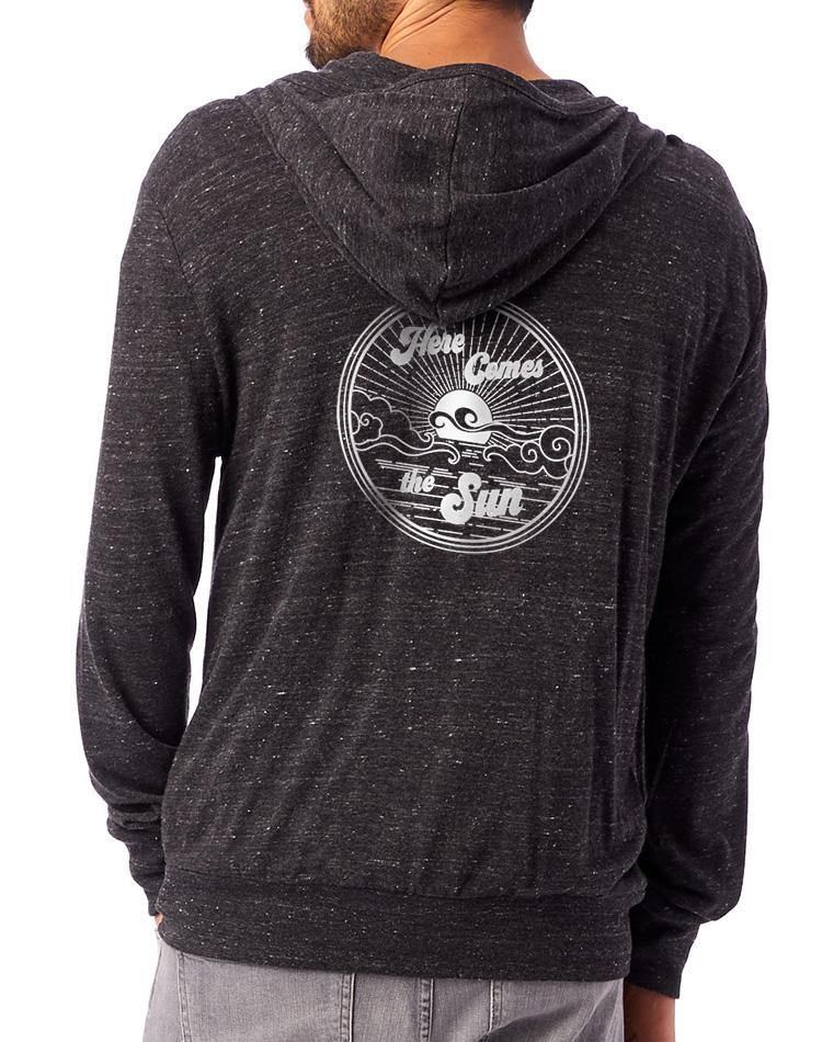 Unisex Here Comes The Sun Full-Zip Eco Lightweight Hoodie - Breathe in Detroit