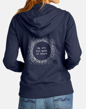 Women's Made Of Stars True Recycled Fleece Zip Hoodie - Breathe in Detroit