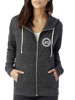 Women's Roaring Lion Eco-Jersey Full-Zip Hoodie - Breathe in Detroit