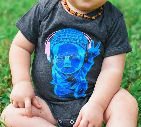 Baby Motown Buddha Bodysuit (Onesie) - Breathe in Detroit