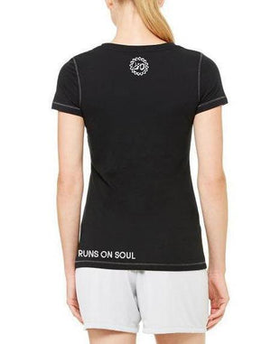 Women's Detroit Runs on Soul Performance Triblend Tee - Breathe in Detroit