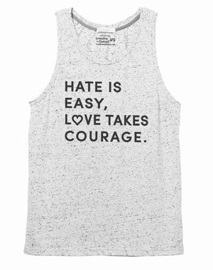 Unisex Love Takes Courage Eco Nep Jersey Tank - Breathe in Detroit