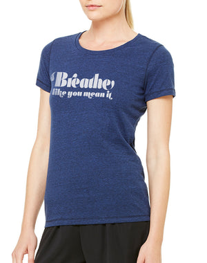 Women's Breathe Like You Mean It Performance Tee - Breathe in Detroit
