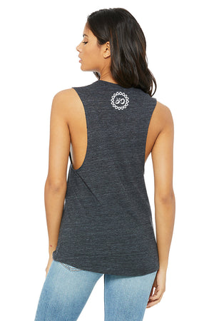 Women's Turn Up the Love Slub Muscle Tank - Breathe in Detroit