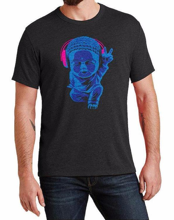 Unisex Little Buddha Triblend Tee - Breathe in Detroit