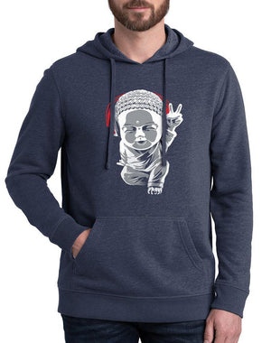 Unisex Little Buddha Blended Fleece Hoodie - Breathe in Detroit