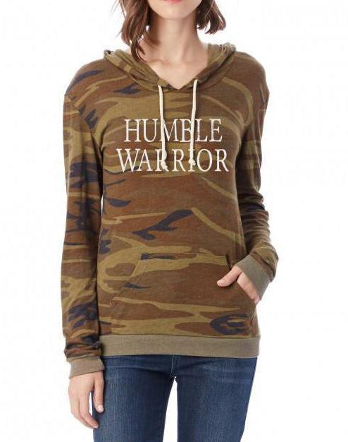 "Women's ""Humble Warrior"" Eco Hooded Pullover - Breathe in Detroit"