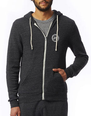 Unisex Thrive Eco Fleece Zip Hoodie - Breathe in Detroit