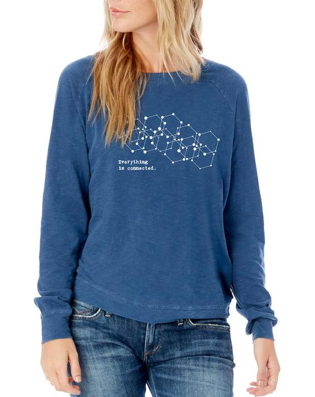 Women's Connected Garment Dyed Slub Pullover - Breathe in Detroit