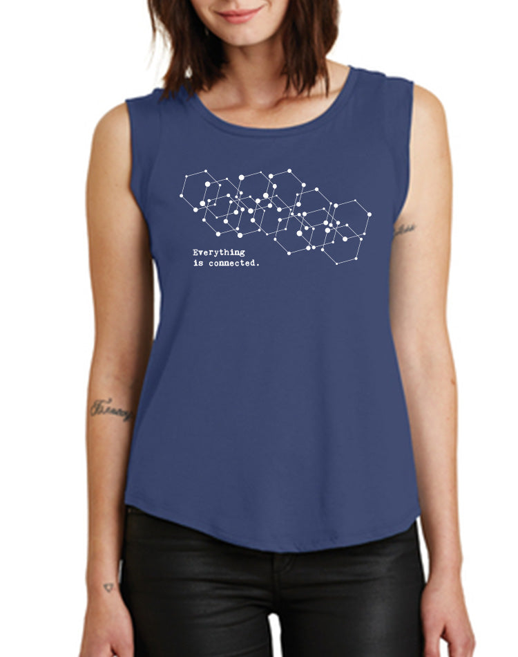 Women's Connected Cap-Sleeve Tank - Breathe in Detroit