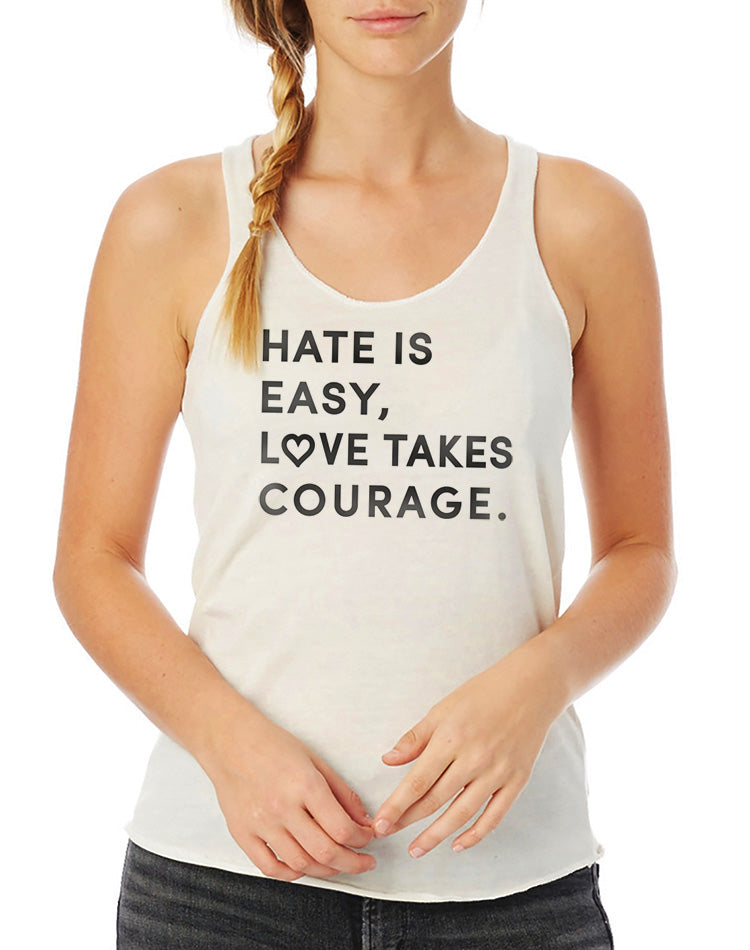 Women's Love Takes Courage Eco Fly Tank - Breathe in Detroit
