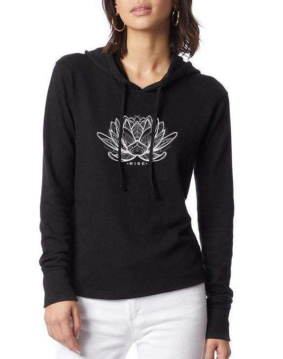 Women's Rising Lotus Vintage Knit Pullover - Breathe in Detroit