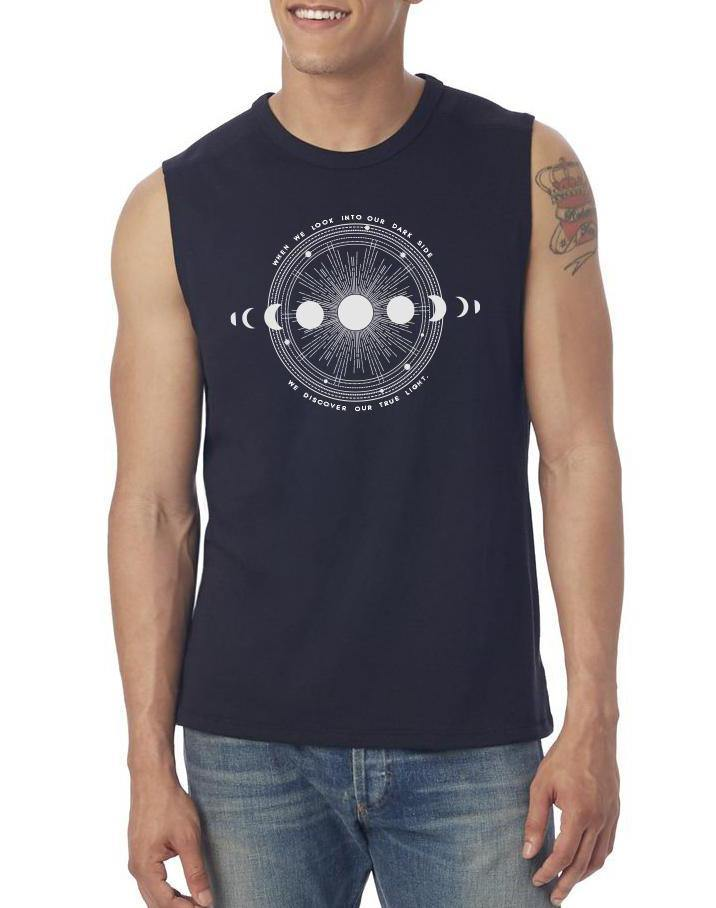 Unisex Moon Shadow Muscle Tank - Breathe in Detroit