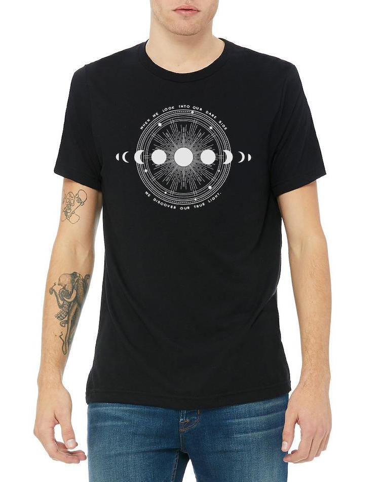 Unisex Moon Shadow Triblend Tee - Breathe in Detroit