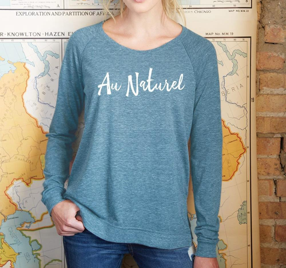 "Women's Eco-Jersey ""Au Naturel"" Pullover"