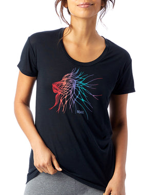 Women's Electric Lion Slinky Tee - Breathe in Detroit