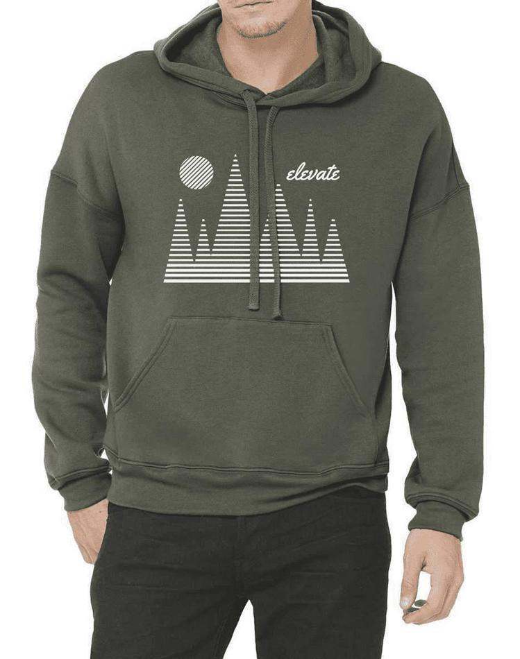 Unisex Elevate Sponge Fleece Pullover Hoodie - Breathe in Detroit