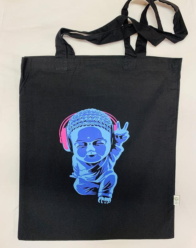 Eco Little Buddha Organic Tote Bag - Breathe in Detroit