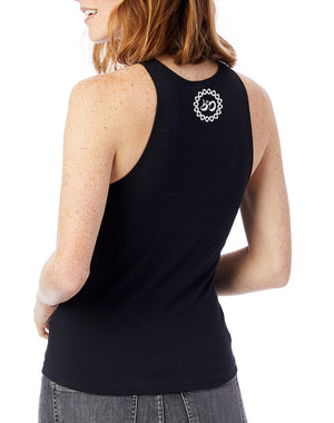 Women's Moon Shadow Fitted Stretch Tank - Breathe in Detroit