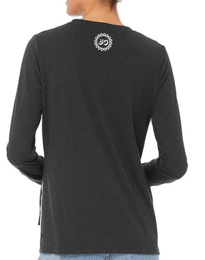 Women's Mantra Long-Sleeve Side Split Triblend - Breathe in Detroit
