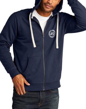 Unisex Moon Shadow True Recycled Fleece Zip Hoodie - Breathe in Detroit