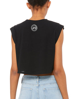 Women's Because Easy Doesn't Festival Crop Tank - Breathe in Detroit