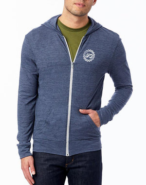 Unisex Moon Shadow Full-Zip Eco Lightweight Hoodie - Breathe in Detroit