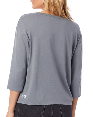 Women's Radiate Love Organic 3/4 Sleeve Boxy Tee - Breathe in Detroit