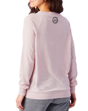 Women's Namaste Slouchy Eco-Jersey Pullover - Breathe in Detroit