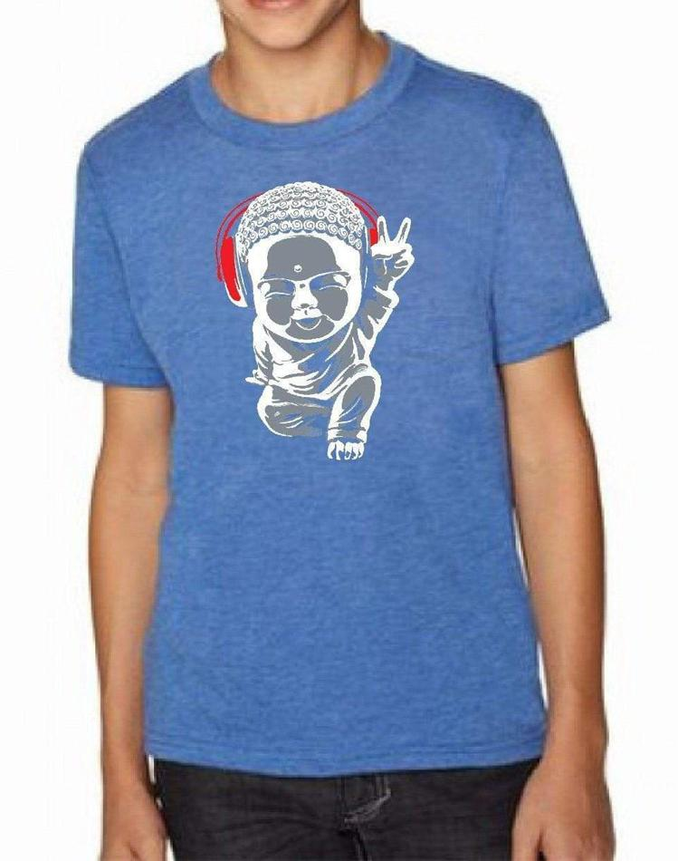 Youth Little Buddha Triblend Tee - Breathe in Detroit