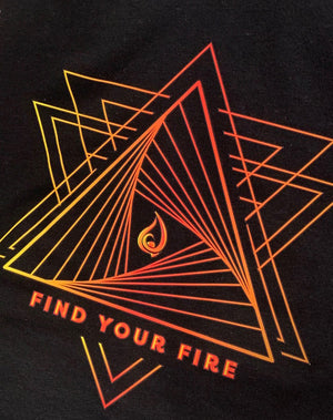 Women's Find Your Fire Flame Print Flow Tank - Breathe in Detroit
