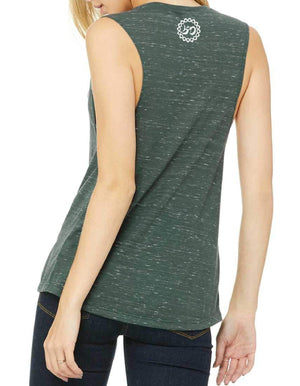 Women's Mantra Marble Muscle Tank - Breathe in Detroit