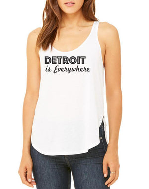 Women's Detroit is Everywhere Side Slit Flowy Tank - Breathe in Detroit