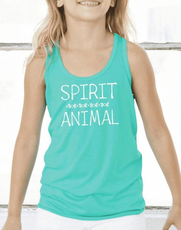 Girls Spirit Animal Flow Tank - Breathe in Detroit