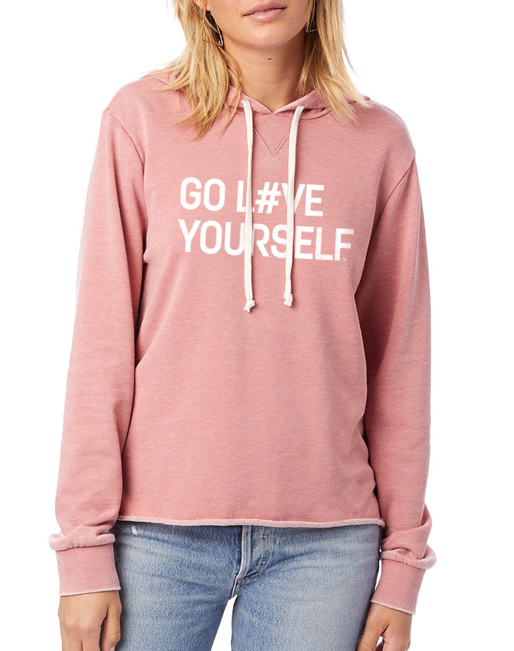 Women's Go Love Yourself French Terry Hoodie - Breathe in Detroit