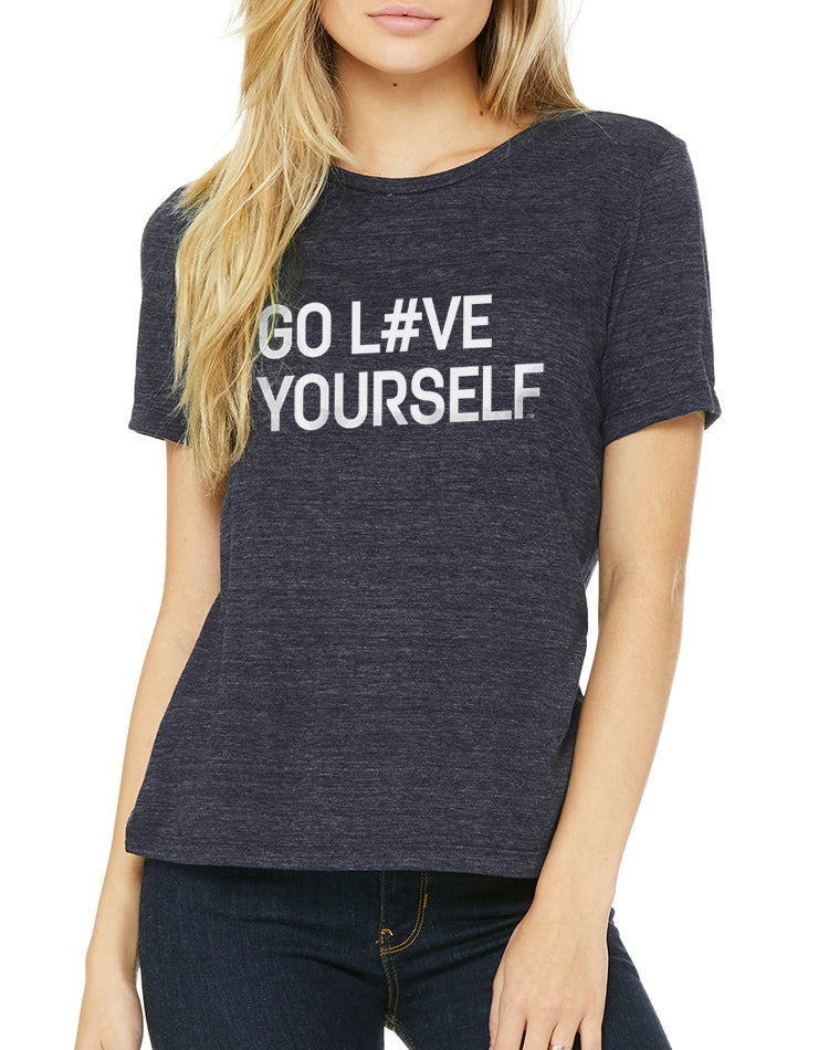 Women's Go Love Yourself Relaxed Fit Slub Tee - Breathe in Detroit